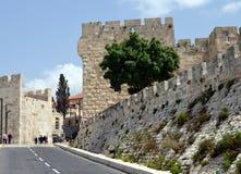 стародедовские стены Иерусалима стоковое изображение
