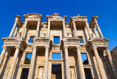 Стародедовский архив Celsius в Ephesus Турции Стоковое фото RF