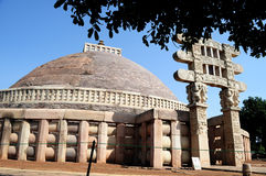 Stupa Sanchi стоковые изображения rf