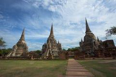 стародедовский висок ayutthaya Стоковая Фотография RF
