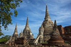 стародедовский висок ayutthaya Стоковое Фото
