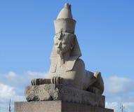 стародедовский египетский сфинкс Санкт-Петербург Стоковые Изображения RF