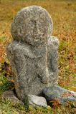 Стародедовский каменный идол Стоковое Фото