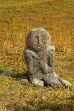 Стародедовский каменный идол Стоковое Изображение