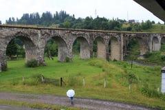 стародедовский камень моста свода Стоковые Фотографии RF