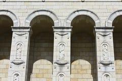 стародедовский камень руин колонок города Стоковое Изображение