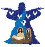стародедовский комплект места рождества figurines иллюстрация штока