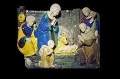 стародедовский комплект места рождества figurines стоковое фото