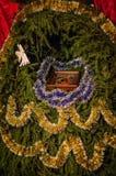 стародедовский комплект места рождества figurines стоковые изображения rf