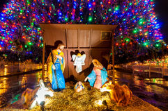 стародедовский комплект места рождества figurines Стоковые Фото