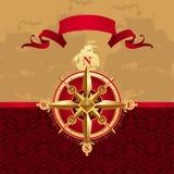 стародедовский лимб картушки компаса Стоковое Фото