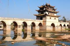Стародедовский мост в Китае Стоковые Изображения