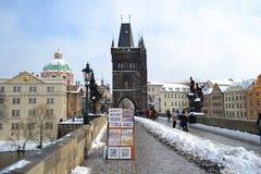 Стародедовский мост Карла в городе Праги Стоковые Изображения