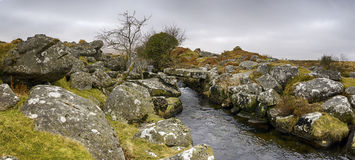 Ручеек Walla на Dartmoor Стоковые Фото