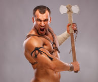 стародедовский мыжской мышечный ратник портрета Стоковое Изображение RF