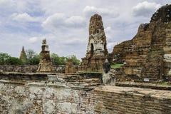 Стародедовский Pagoda & руины в Ayutthaya, Таиланде Стоковые Фотографии RF