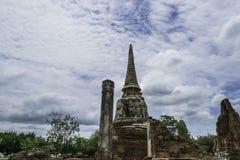 Стародедовский Pagoda & руины в Ayutthaya, Таиланде Стоковые Изображения