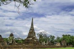 Стародедовский Pagoda & руины в Ayutthaya, Таиланде Стоковая Фотография