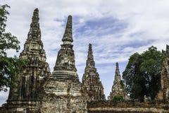 Стародедовский Pagoda & руины в Ayutthaya, Таиланде Стоковая Фотография RF