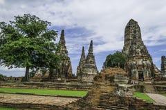 Стародедовский Pagoda & руины в Ayutthaya, Таиланде Стоковое фото RF
