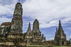 Стародедовский Pagoda & руины в Ayutthaya, Таиланде Стоковое Изображение