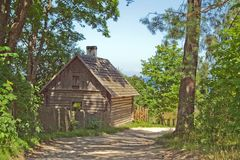 стародедовский sauna Стоковое Фото