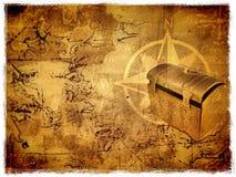 стародедовское сокровище карты Стоковые Фото