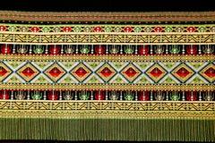 стародедовское сплетенное тайское ткани Стоковое Изображение