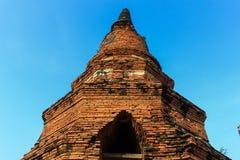 Стародедовская пагода в Ayutthaya Стоковое Изображение