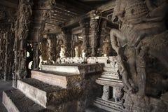 стародедовское varadaraja виска Тамильского языка камня nadu kanchipuram Индии carvings Стоковая Фотография RF