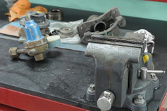 Старо недостаток на workbench стоковое фото rf