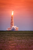 Старт Атлантиды - STS-135 Стоковая Фотография RF
