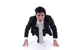 старт бизнесмена готовый идущий к Стоковые Фотографии RF