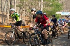 Старт гонки горного велосипеда Стоковое Изображение RF