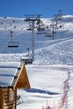 старт катания на лыжах 2 подъемов Стоковая Фотография