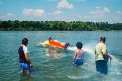 Старт конкуренции Powerboat Стоковое Изображение