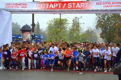 Старт массы марафона Софии Стоковое Изображение