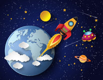 Старт ракеты космоса Стоковые Изображения RF