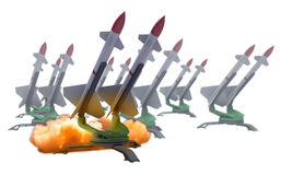 Старт ракеты иллюстрация штока