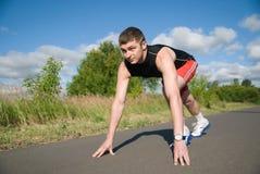 старт спортсмена Стоковые Фотографии RF