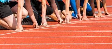 Старт спринта Стоковая Фотография