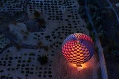 Старт утра горячих воздушных шаров в Cappadocia индюк Стоковые Фото