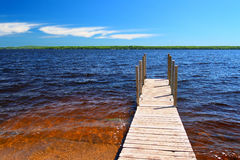 Старт шлюпки Gogebic озера Стоковые Изображения RF