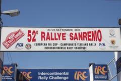 Старт Sanremo ралли Стоковое Изображение