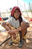 Старуха от племени Сан Стоковое фото RF