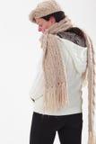 Старуха с холодом Стоковая Фотография RF
