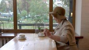 Старшая дама с хозяйственными сумками видеоматериал
