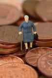 Старшая дама чеканит a Стоковые Фотографии RF