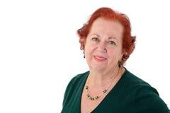 Старшая дама Looking на вас добросердечно стоковые изображения