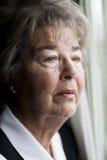 Старшая депрессия женщины стоковая фотография rf